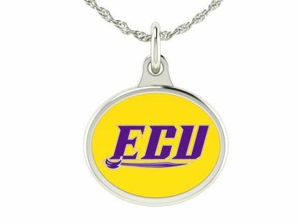 East Carolina ECU Silver Charm Pendant