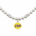 East Carolina ECU White Pearl Necklace