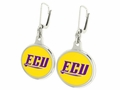 East Carolina Pirates Silver Earrings