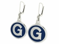 Georgetown Hoyas Silver Enamel Earrings