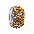 Gold Crystal Fade School Color Bead