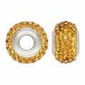 Gold Swarovski Elements Crystal Bead