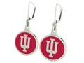 Indiana Hoosiers Silver Earrings