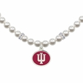 Indiana Hoosiers White Pearl Necklace