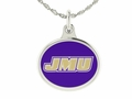 James Madison Dukes Silver Enamel Charm
