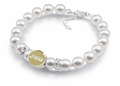 James Madison Dukes White Pearl Bracelet