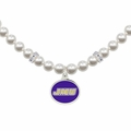 James Madison Dukes White Pearl Necklace