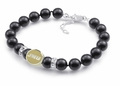 James Madison JMU Black Pearl Bracelet