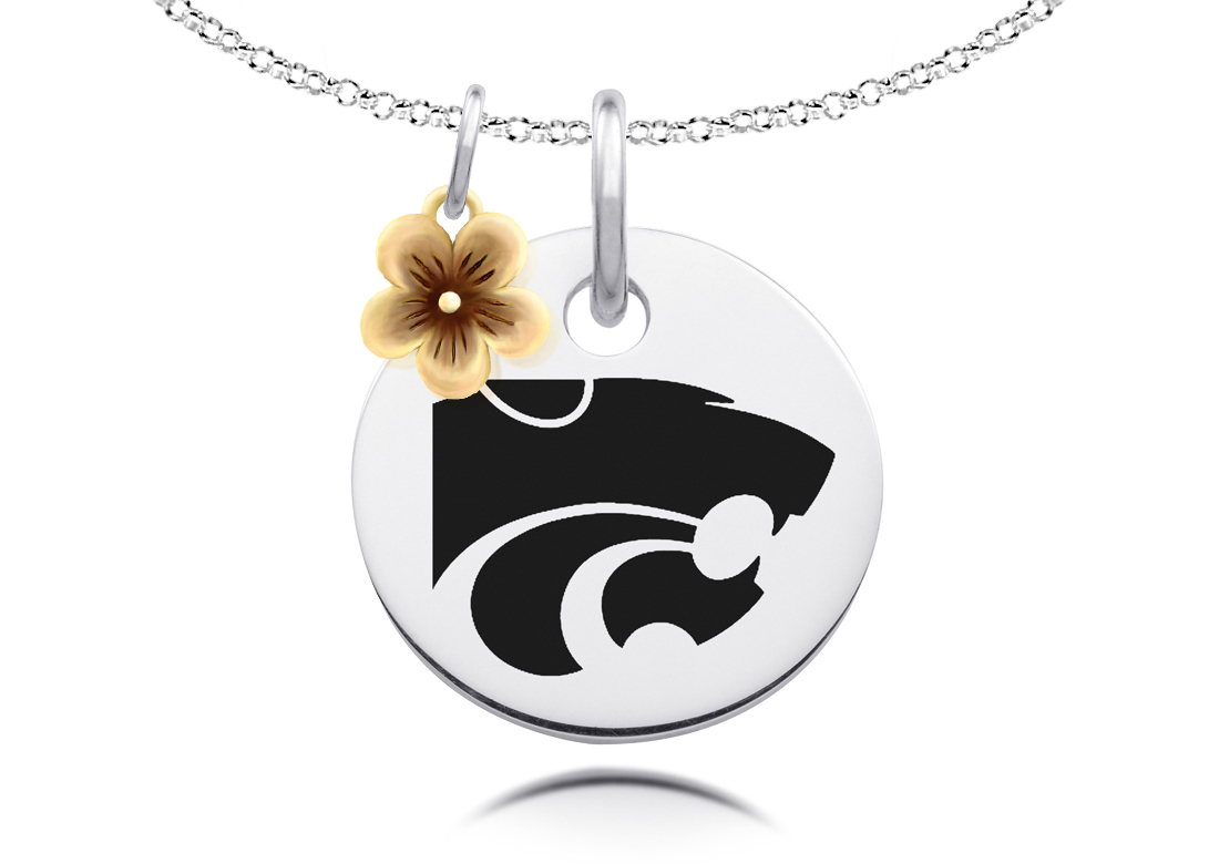 Kansas State Wildcats Necklace with Flower Charm