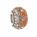Orange Crystal Fade School Color Bead
