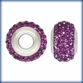 Purple Swarovski Elements Crystal Bead