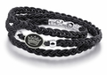 Zeta Tau Alpha Black Leather Wrap