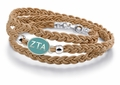 Zeta Tau Alpha Brown Leather Bracelet