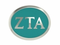 Zeta Tau Alpha Silver Sorority Bead