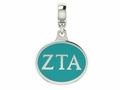 Zeta Tau Alpha Sorority Dangle Charm