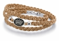 Zeta Tau Alpha Tan Leather Wrap