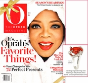 As Seen In O,The Oprah Magazine - Giant Ruby CZ Solitaire Cocktail Ring