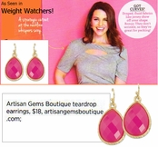 As Seen In Weight Watchers! Faceted Teardrop Earrings