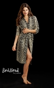 BedHead Wild Thing Leopard Print Cashmere Robe