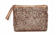 Beverly Hills Rose Gold Collection Alex Sparkle Cosmetic Case by Stephanie Johnson