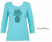 Blue Curacao Presley Pineapple T Shirt by Tommy Bahama