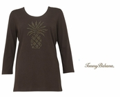 Brazil Nut Presley Pineapple T Shirt by Tommy Bahama