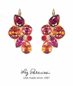Brillantez Red Mix Swarovski Crystal Radiance Earrings by Liz Palacios