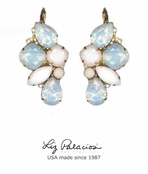 Brillantez White Mix Swarovski Crystal Radiance Earrings by Liz Palacios