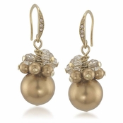 CAROLEE Golden Glow Gold Cluster Earrings