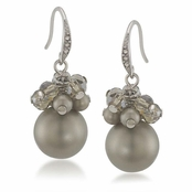 CAROLEE Golden Glow Smokey Cluster Earrings