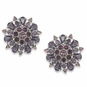 CAROLEE Imperial Image Large Stone Button Earrings