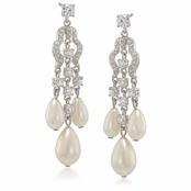 CAROLEE The Looking Glass Pearl Chandelier Earrings