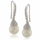 CAROLEE The Looking Glass Pearl Drop Earrings