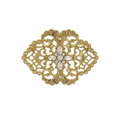 Downton Abbey� Gold Lace Filigree Brooch