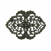 Downton Abbey� Jet Lace Filigree Brooch