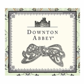 Downton Abbey� Silver Crystal Edwardian Bow Pin