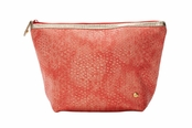 Laguna Coral Essentials Collection Laura Large Trapezoid Cosmetic Case by Stephanie Johnson