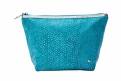 Laguna Turquoise Essentials Collection Laura Large Trapezoid Cosmetic Case by Stephanie Johnson