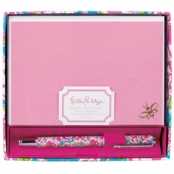 Lilly Pulitzer Pen and Notecard Set Lucky Charms Blue