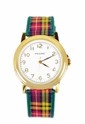 As Seen in InStyle and Women's World!  Plaid Watch by PEDRE New York