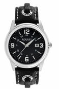 Sperry Top-Sider Men's Preston Black Skip Lace Leather Band Watch