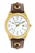 Sperry Top-Sider Men's Preston Brown Skip Lace Leather Band Watch