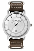 Sperry Top-Sider Men's Striper Brown Leather Band Watch