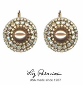 Tesoro Swarovski Crystal and Pearl Shimmer Earrings by Liz Palacios
