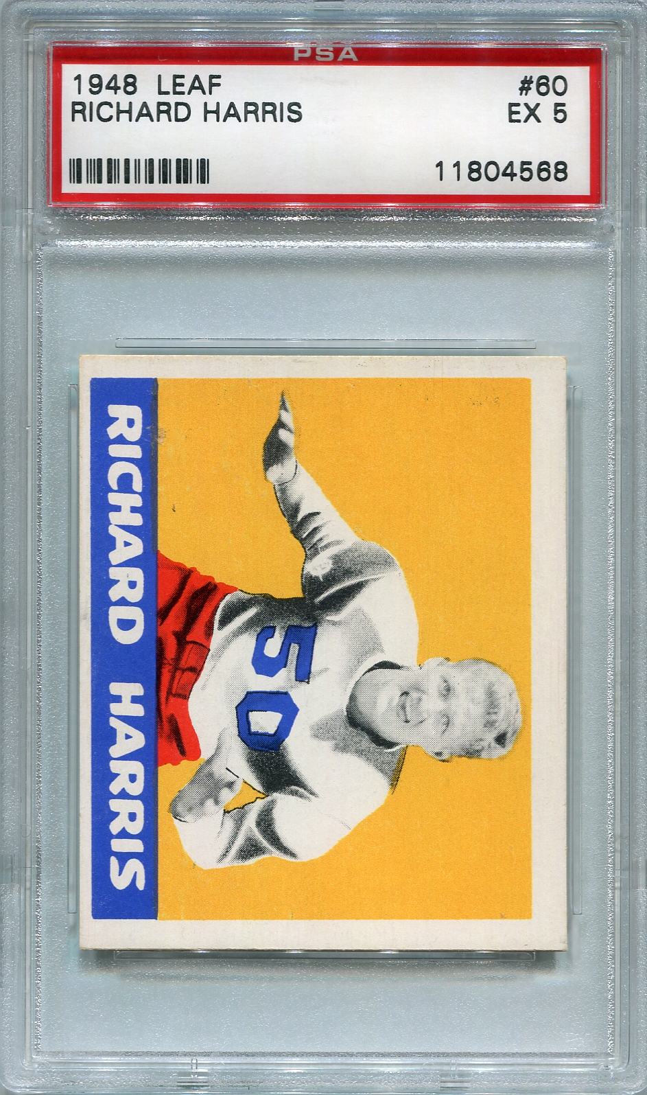 1948 Leaf Football Richard Harris #60 PSA 5 EX