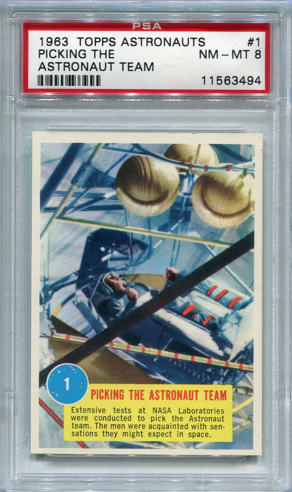 1963 Topps Astronauts - Picking The Astronaut Team #1 PSA 8 NM-MT