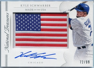 2015 Panini National Treasures Made In The USA Kyle Schwarber Autograph #56 #72/99