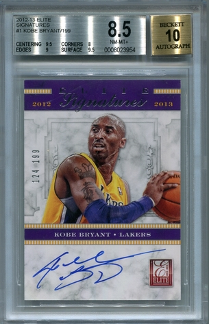 Kobe Bryant BGS Certified Authentic Autograph - 2012 Panini Elite Signatures