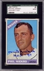 Phil Niekro SGC Certified Authentic Autograph - 1966 Topps #28