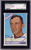 Phil Niekro SGC Certified Authentic Autograph - 1966 Topps #28 B